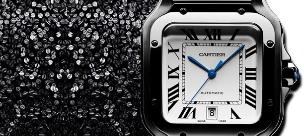 The new <br>Santos de Cartier watch
