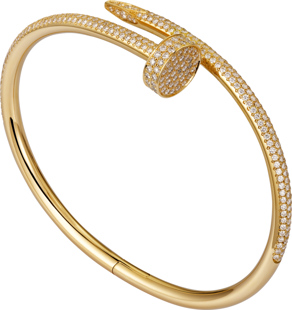 Juste un Clou braceletYellow gold, diamonds