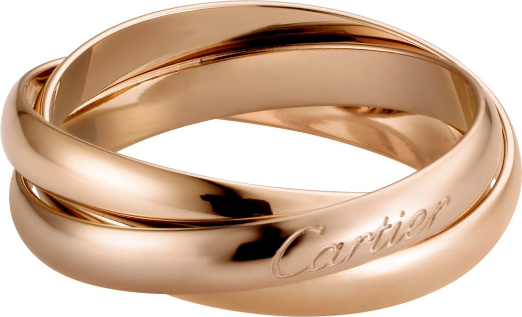Trinity ring, small modelPink gold