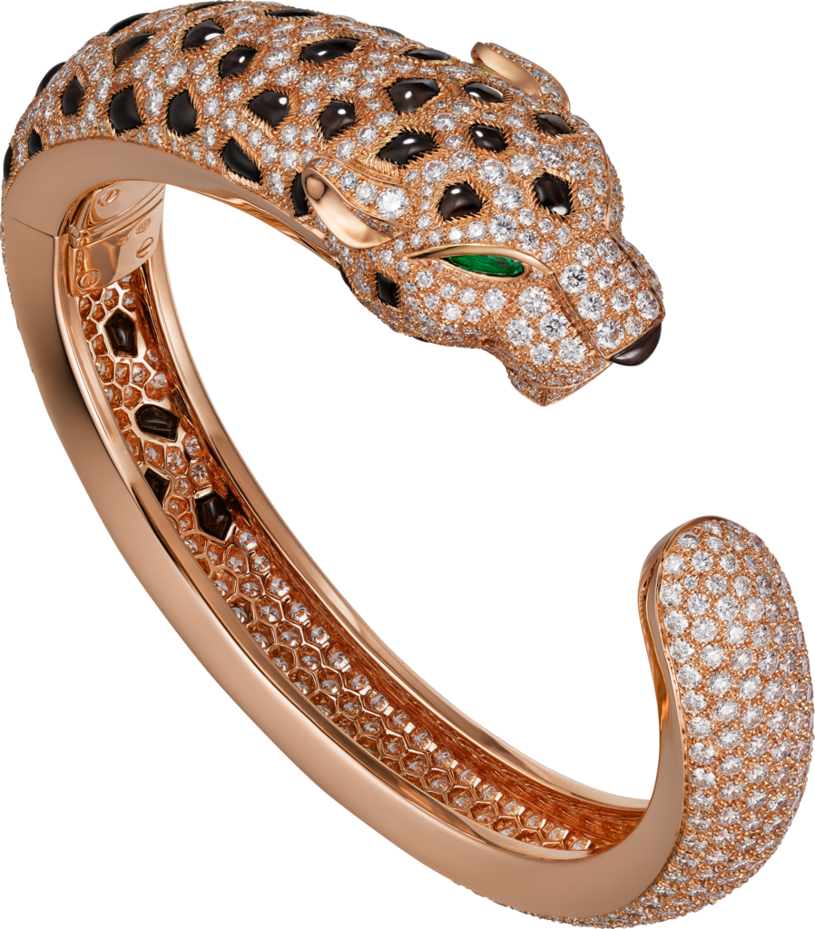 Panthère de Cartier braceletRose gold, emeralds, obsidians, diamonds