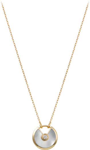 Amulette de Cartier necklace, small model Yellow gold, diamond, white mother-of-pearl