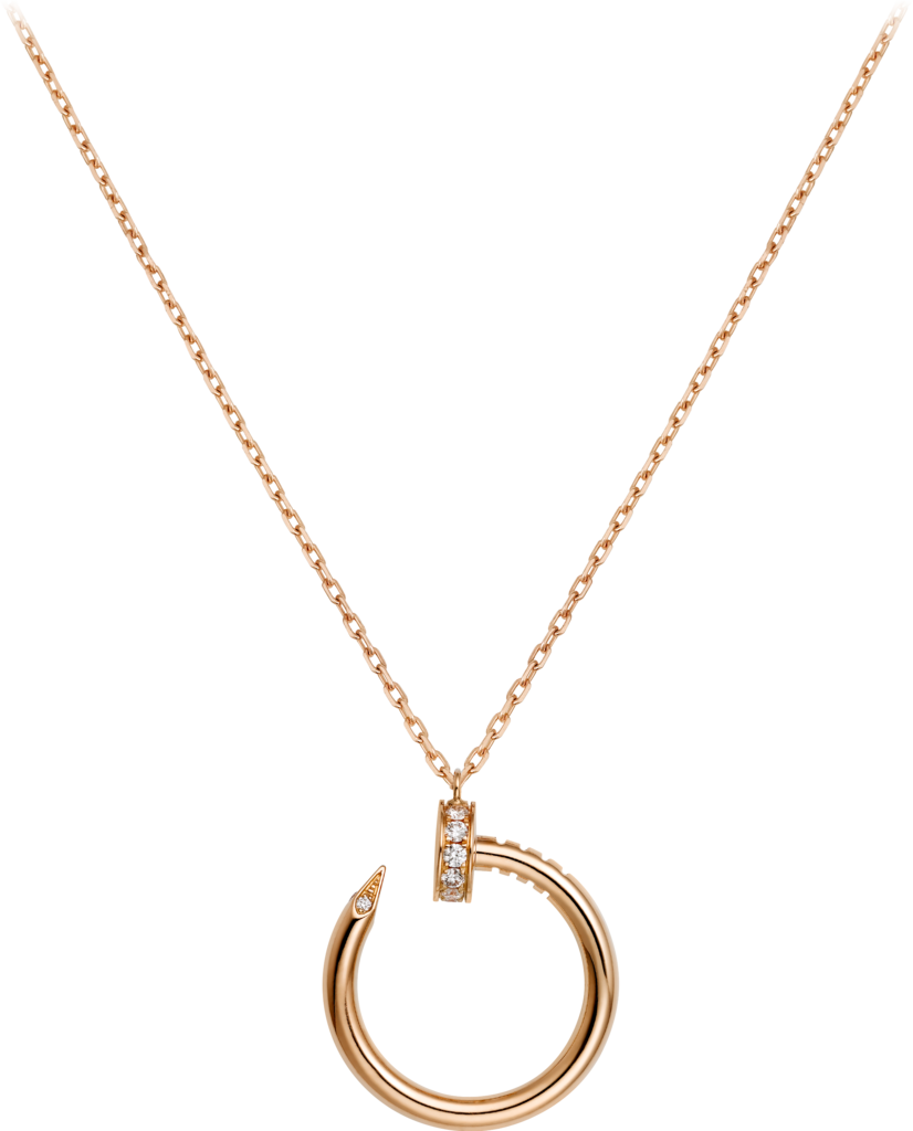 Juste un Clou necklaceRose gold, diamonds