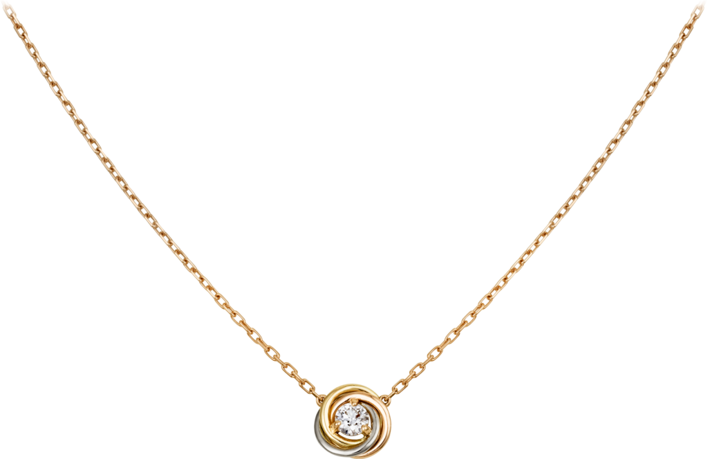 Trinity necklaceWhite gold, yellow gold, rose gold, diamond