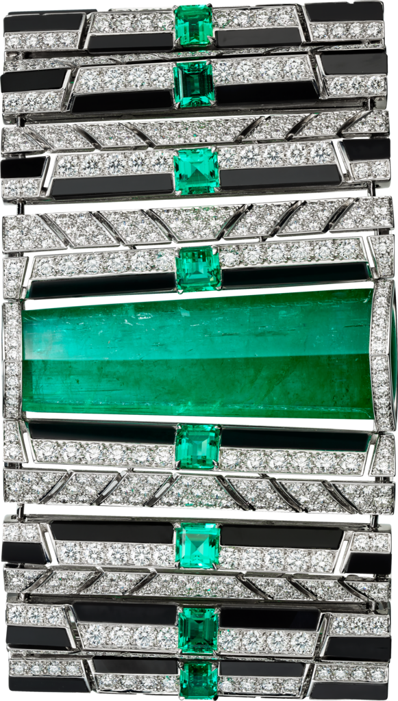 High Jewellery braceletWhite gold, emeralds, onyx, diamonds.