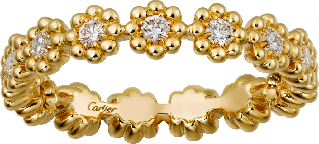 Cactus de Cartier wedding ringYellow gold, diamonds
