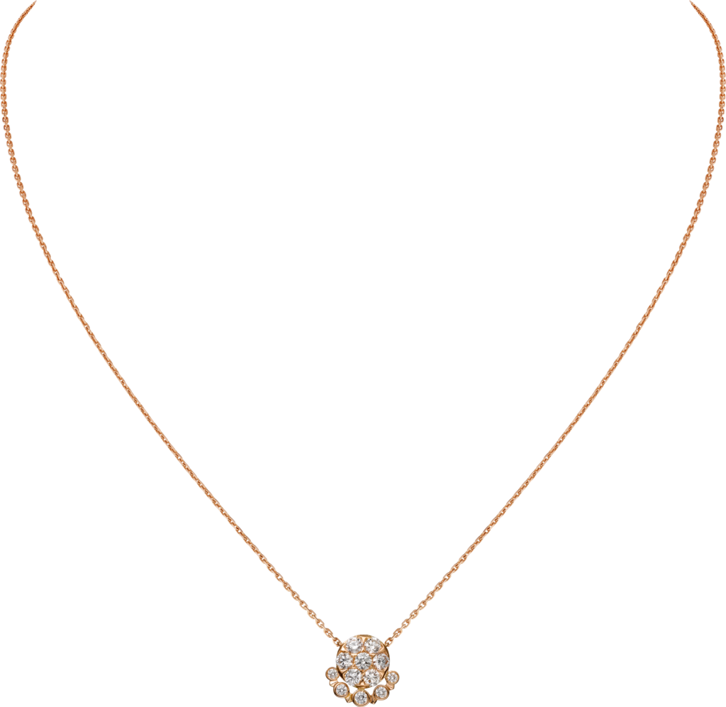 Etincelle de Cartier necklaceRose gold, diamonds