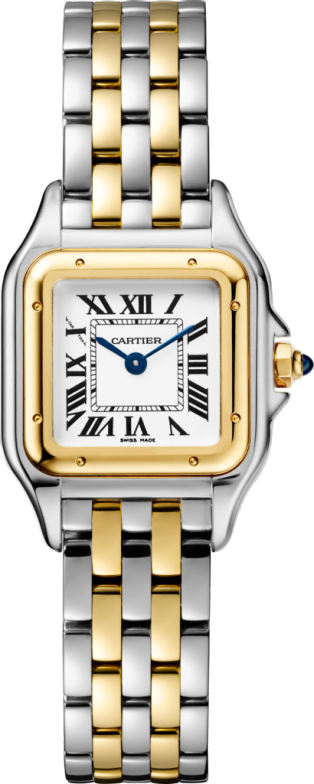 Panthère de Cartier watch Small model, yellow gold and steel