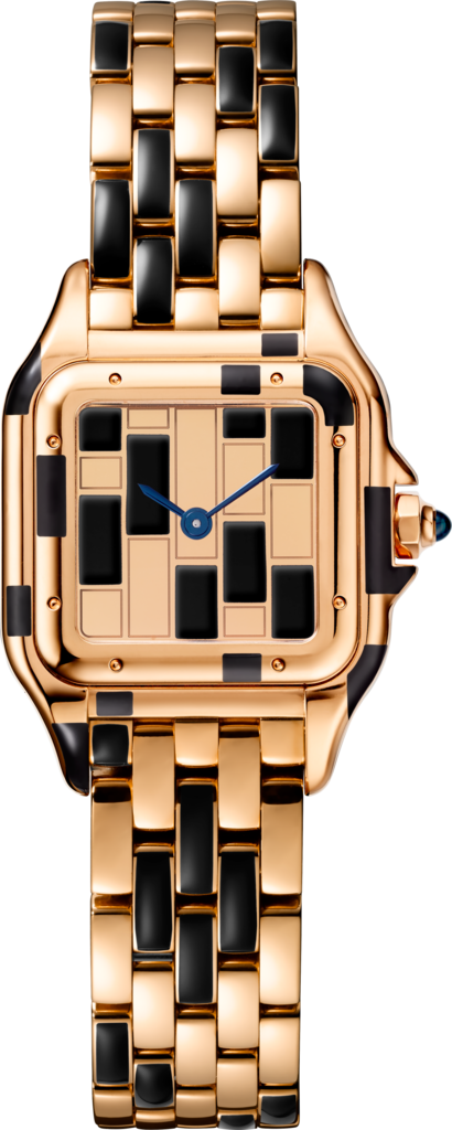 Panthère de Cartier watchSmall model, rose gold and black lacquer