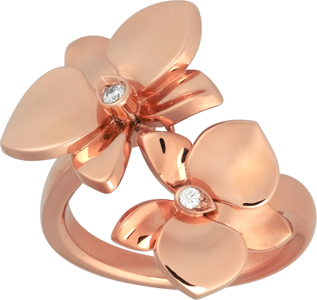 Caresse d'Orchidées par Cartier ringRose gold, diamonds