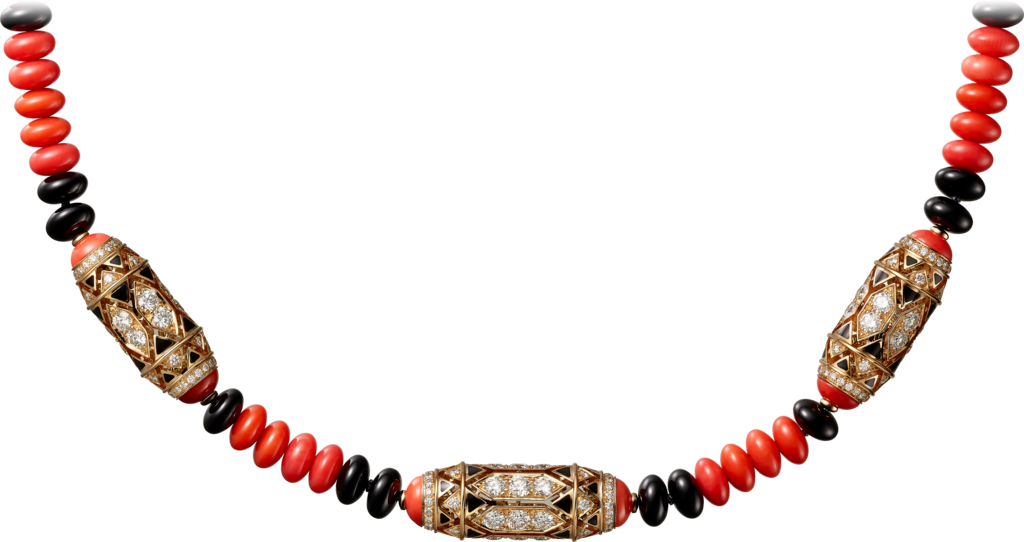 High Jewellery necklaceRose gold, coral, onyx, black lacquer, diamonds
