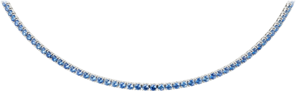 Essential Lines necklaceWhite gold, sapphires