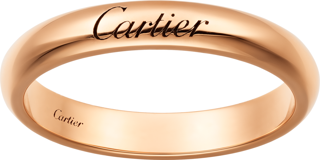 C de Cartier wedding ringRose gold