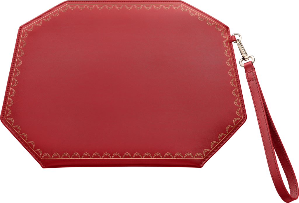 Guirlande de Cartier medium model clutch bagRed calfskin