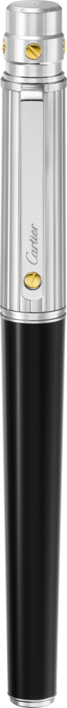 Santos de Cartier rollerball penLarge model, engraved metal, composite, palladium and gold finishes