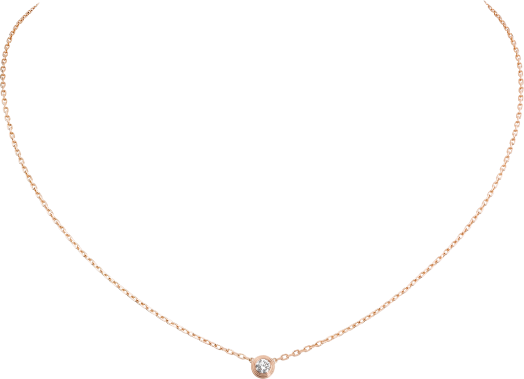 Diamants Légers necklace, small modelRose gold, diamond