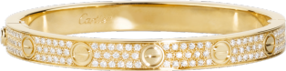 <span class='lovefont'>A </span> bracelet, diamond-paved Yellow gold, diamonds