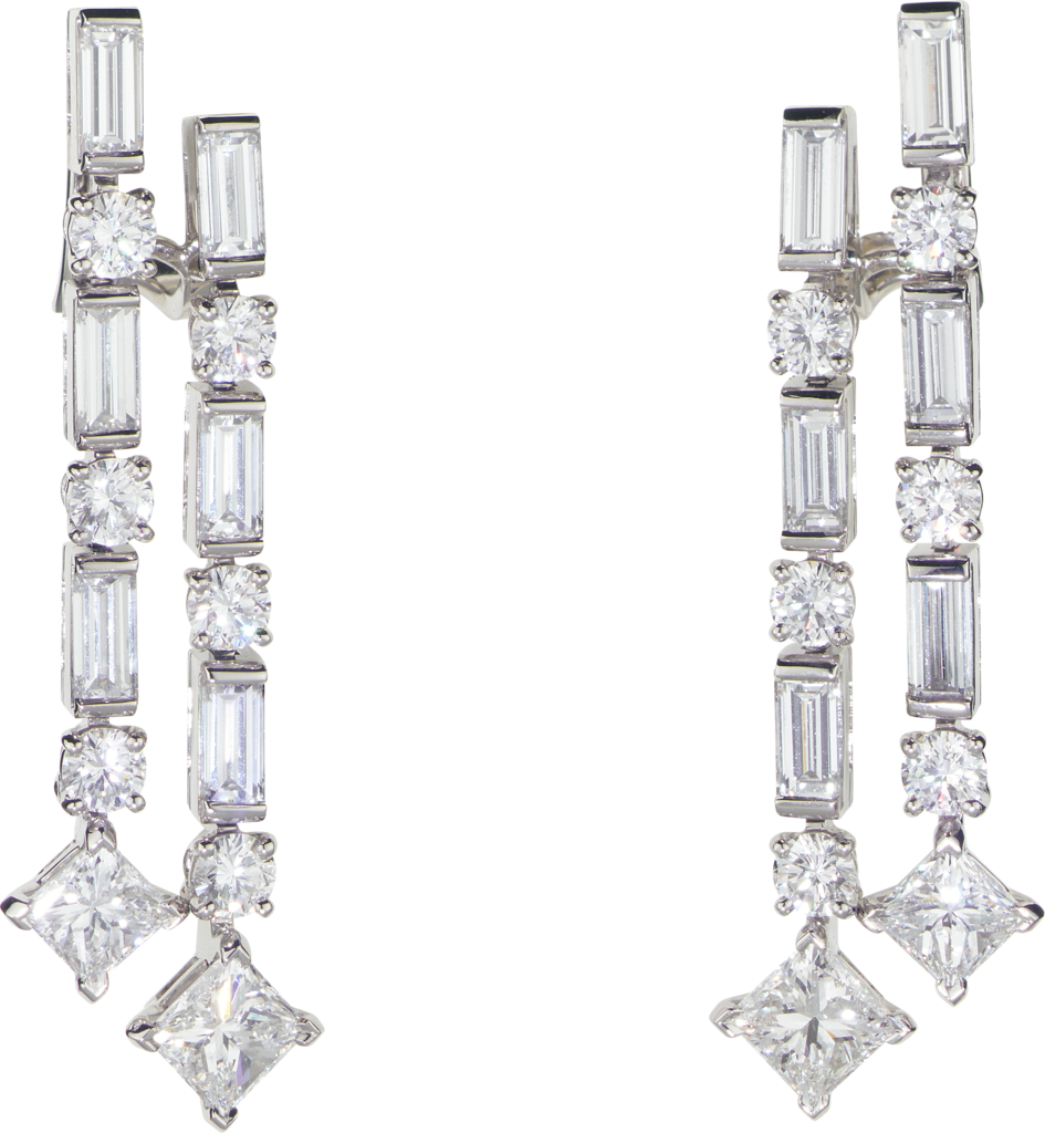 Reflection de Cartier earringsPlatinum, diamonds