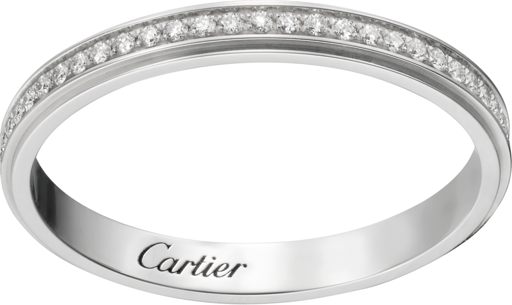 Cartier d'Amour wedding ringPlatinum, diamonds