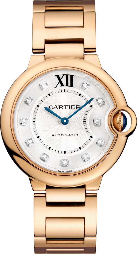 Ballon Bleu de Cartier watch36 mm, rose gold, diamonds
