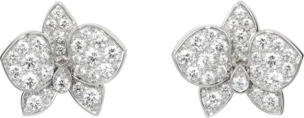 Caresse d'Orchidées par Cartier earringsWhite gold, diamonds