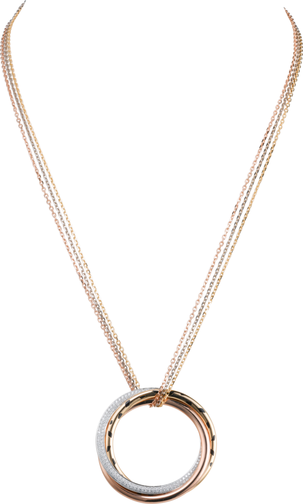 Trinity necklaceWhite gold, yellow gold, pink gold, lacquer, diamonds