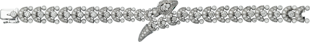 Faune et Flore de Cartier braceletPlatinum, emeralds, diamonds