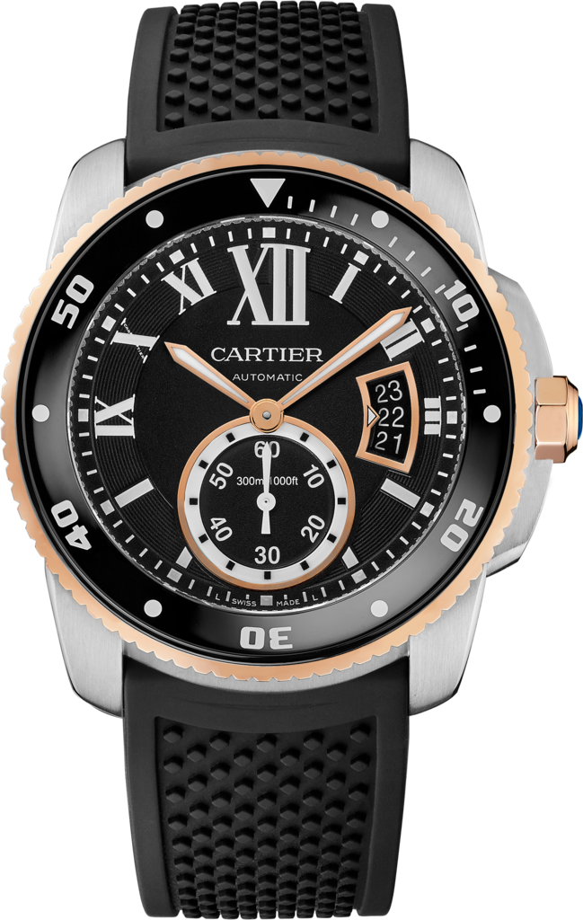 Calibre de Cartier Diver watch42 mm, rose gold and steel