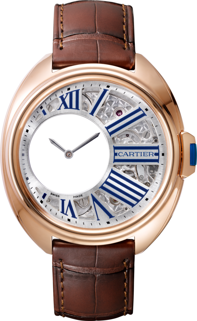 Clé de Cartier Mysterious Hour watch41 mm, manual, rose gold