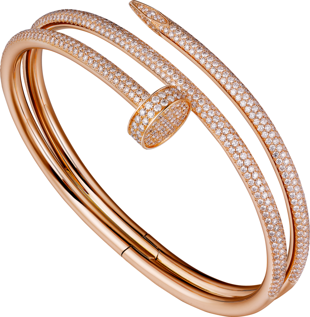 Juste un Clou braceletPink gold, diamonds